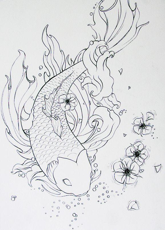 39 best koi fish tattoo outlines images on pinterest koi fish tattoo fish tattoos and tattoo. Black Bedroom Furniture Sets. Home Design Ideas