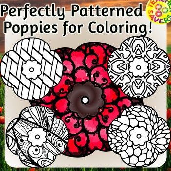 Whether it's Remembrance Day, Veterans Day, Anzac Day or Memorial Day this patterned poppy clipart set is just perfect to commemorate the day. This set contains 12 PNG B/W images in 300 dpi. They are large scale size, so they can be sized with clarity for