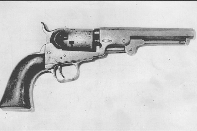 Ned Kelly   Bushranger Ned Kelly   Photo Galleries and News Photos   News Pictures and Photos   Herald Sun....his pocket gun revolver