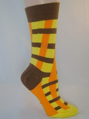 orange brown socks