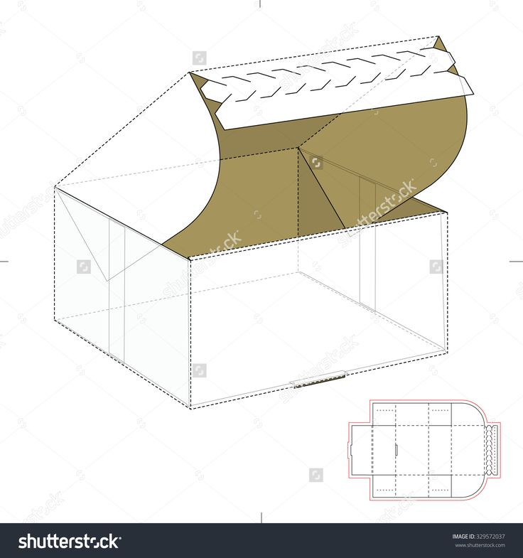 Empty Retail Box With Zipper Lock And Die Line Template Stock Vector Illustration 329572037 : Shutterstock