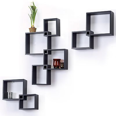 8 pc interlocking cube wall shelf set trophy display pinterest shelves cube wall shelf. Black Bedroom Furniture Sets. Home Design Ideas