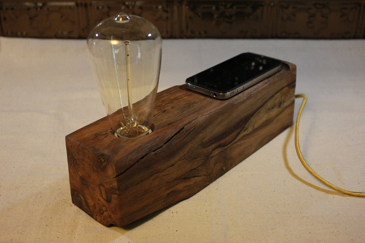 Wood Desk Lamp by