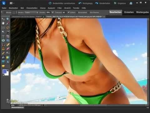 Adobe Photoshop Elements Tutorial deutsch - Füllwerkzeug und Verlaufswerkzeug
