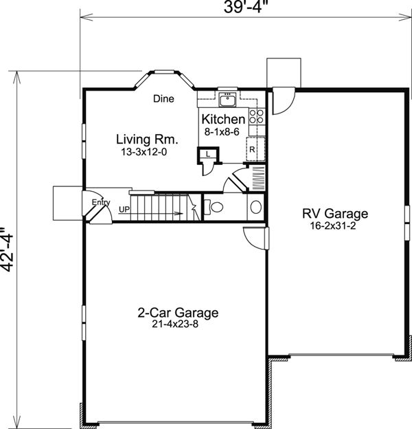 Garage Plan 95827 Cabin Cottage Country Craftsman Vacation   For Me It  Would Be Minus The Garages Or At Least The RV Garage   With An Upstairs  Bedroom And ...