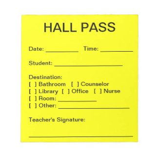 37 best Hall pass images on Pinterest | Hall pass, School hall and ...