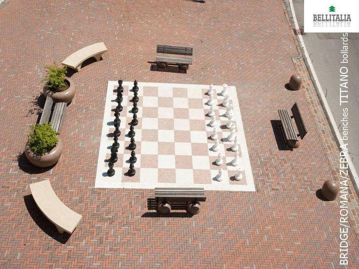 Chess #Bellitalia street furniture - arredo urbano. #concrete and #marble stones