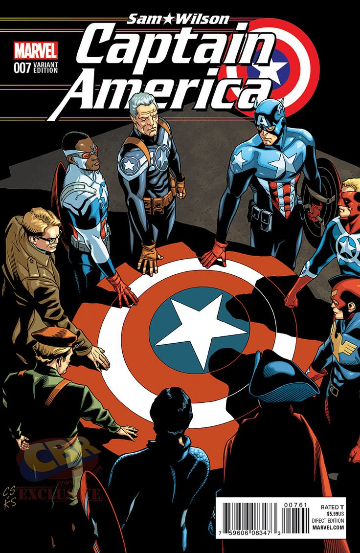 """Captain America: Sam Wilson"" #7 Captain America of All Eras variant cover by Chris Sprouse"