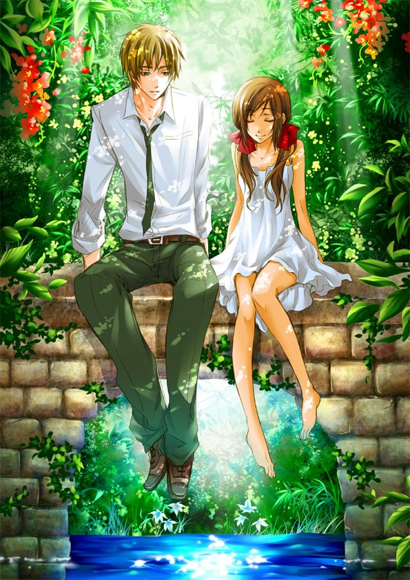 England & Seychelles Don't know the anime, but I thought this was very pretty. Is it Hetalia?