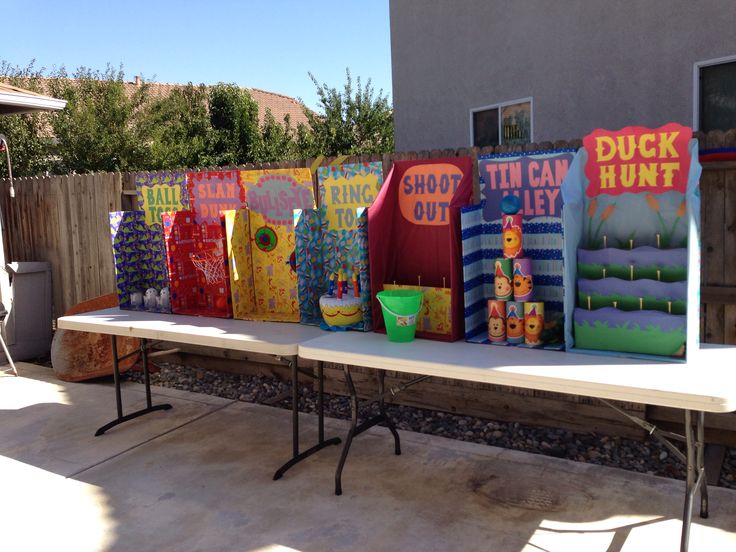 Ideas for a Carnival instead of a fair maybe?? DIY carnival games for birthday
