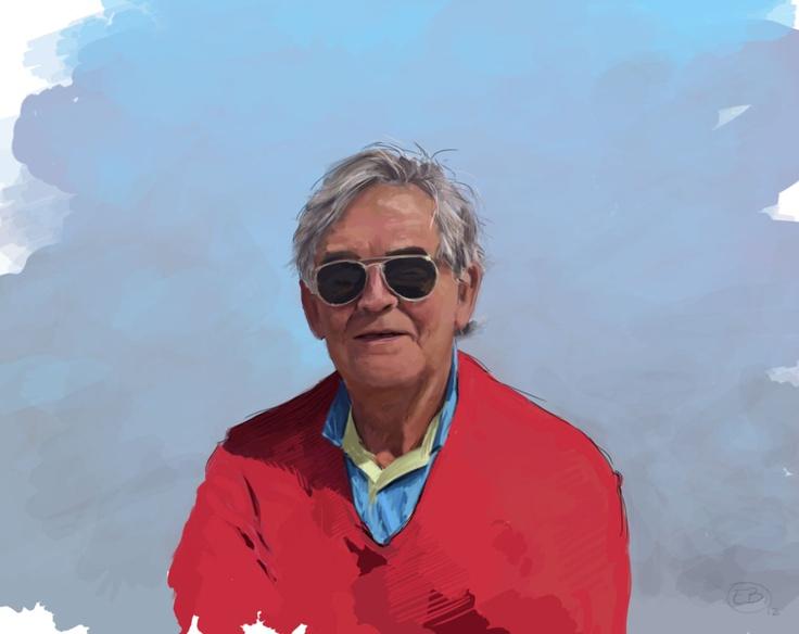 My old man  Digital portrait    www.ewoudbakker.com