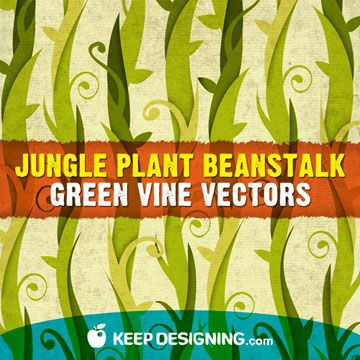 Vector Art from Keep Designing. This beanstalk image makes me think about a growing plant that the EPS community can add to by designing their own vector art leaves and flowers and whatever strikes their fancy to the vines so the vines branch out and keep expanding.