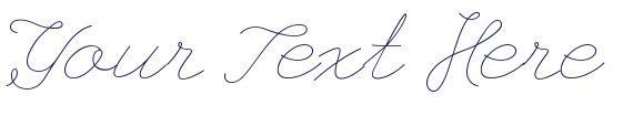 My Letterhead - Cursive Fonts - Cursive Font Generator