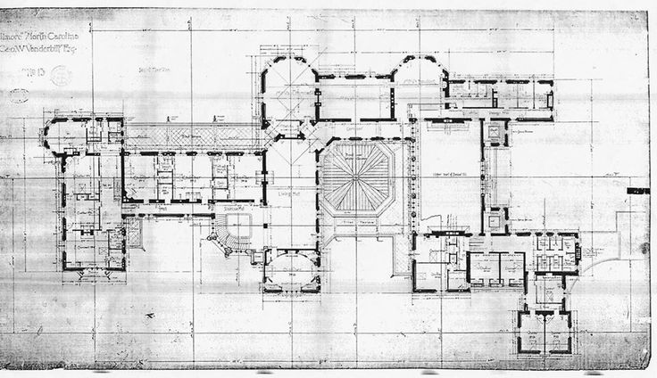 Biltmore house 2nd floor blue print floorplan including for Biltmore estate floor plan