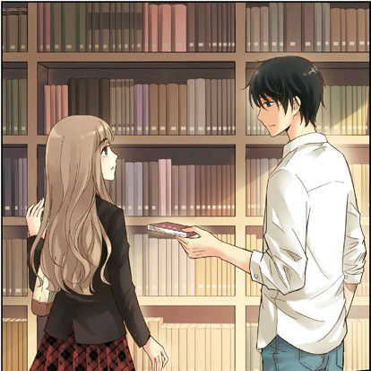 That Romantic Moment When a Guy Hands You a Book That is Too High For You. This Should Happen When You Go to The Library.