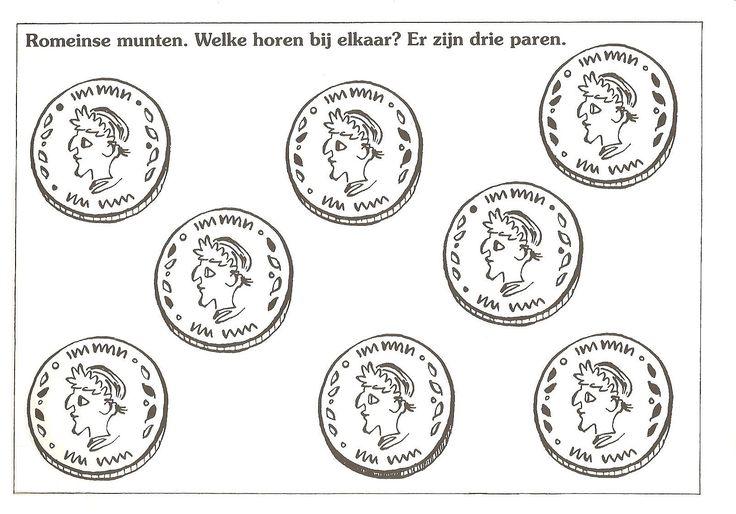 romeinse munten. welke horen bij elkaar? er zijn 3 paren.