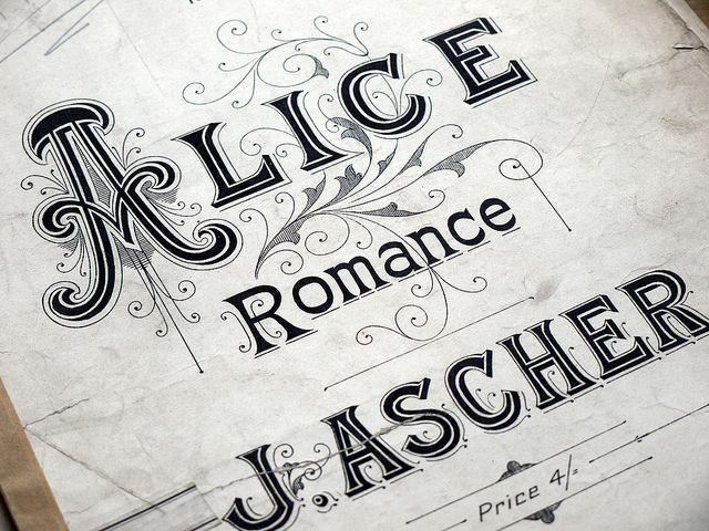 Music Sheet Alice, via Flickr.