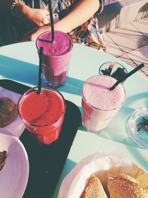 Smoothies in Summer.