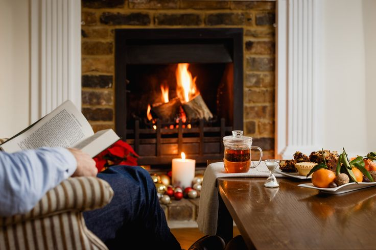 Reading by the fire with a cup of our finest breakfast tea, Assam. Take a moment for yourself this Christmas