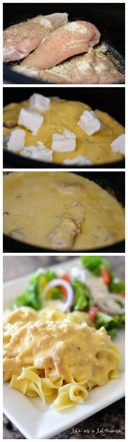 Creamy Italian Chicken in the Deep Covered Baker (or the Crock Pot). Get your Deep Covered Baker at my website: www.pamperedchef.biz/jacquiepowell