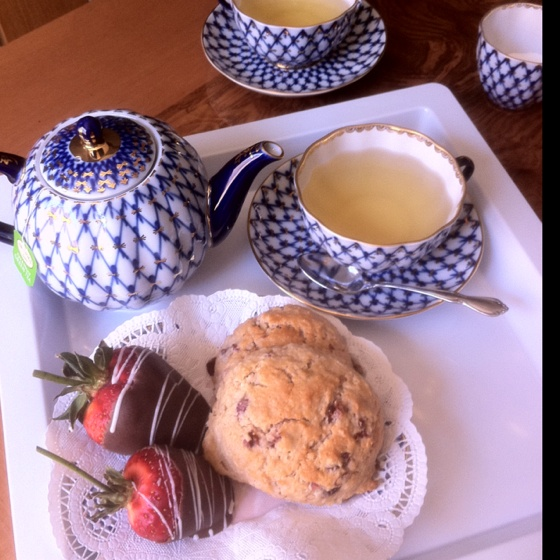 Tea for two & cranberry orange scones
