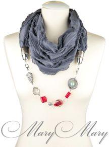 Женский шарф-ожерелье Аврора от творческой мастерской MaryMary