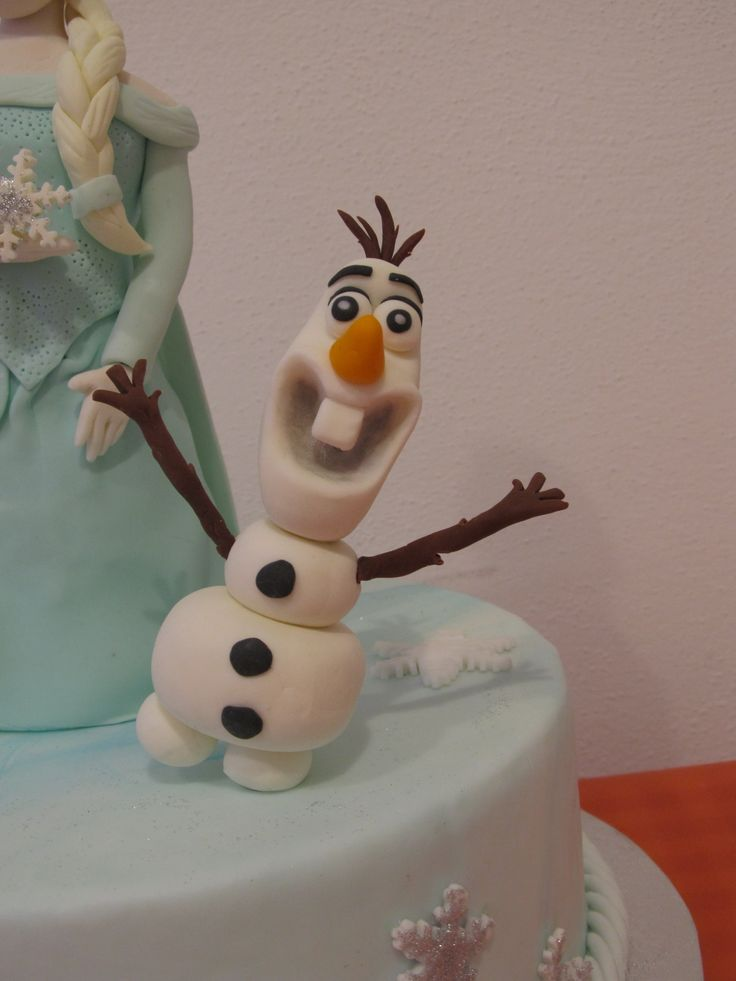 #Olaf di #Frozen con il #cake design in #pdz