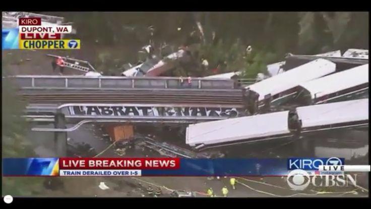 BREAKING NEWS: Amtrak derailment, SOUTH SEATTLE TACOMA WASHINGTON