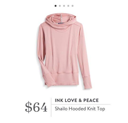 Stitch Fix: Ink Love & Peace Shailo Hooded Knit Top $64