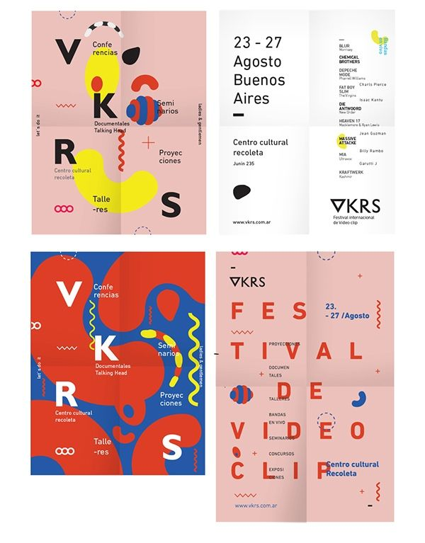 poster designs // source: spkngvclapprts // https://www.behance.net/gallery/17817591/VKRS-International-Video-clip-Festival