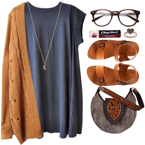 So cute! Pair a cardigan with a dress, add some sandals and a cute handbag and you have a pretty, feminine casual  outfit idea.