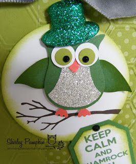 Cute stuff by Shirley: Owl Punch Card as St.Patrick for ColorQ 180