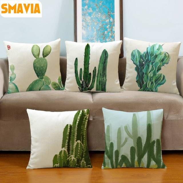 Smavia Fashion Africa Tropical Plant Cushion Covers Cactus