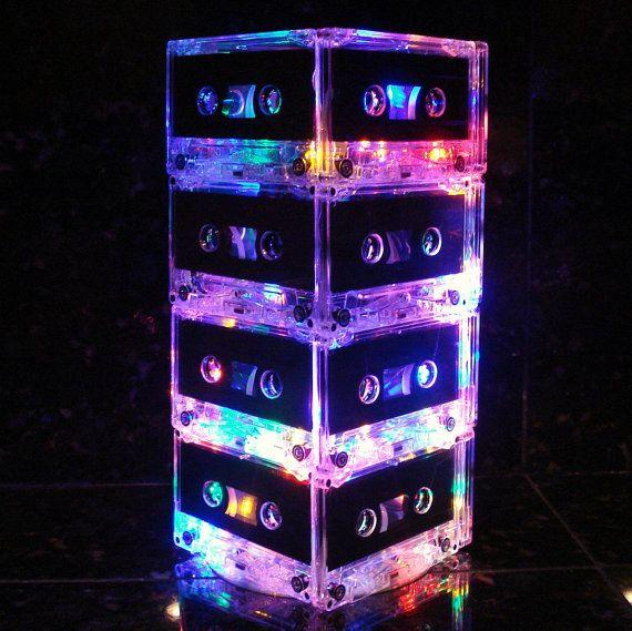 Music Lover MixTape Light Multi-Color Cassette Tape Table Lamp Retro Unique Lighting 80s lover rock n roll lamp
