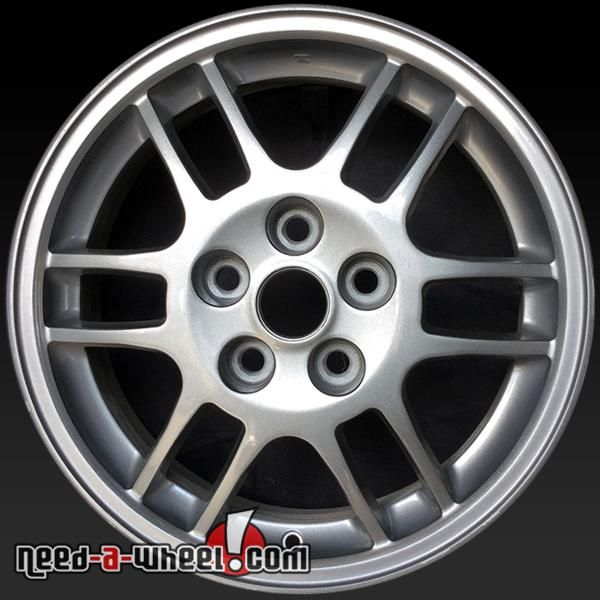 "1999 Mitsubishi Eclipse oem wheels for sale. 16"" Silver stock rims 65765 https://www.need-a-wheel.com/rim-shop/16-mitsubishi-eclipse-oem-wheels-rims-silver-65765/, , #oemwheels, #factorywheels"