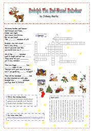 English worksheet: Rudolph the red-nosed reindeer (song)