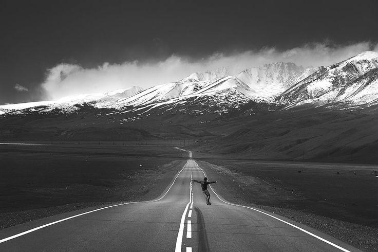 черно белые картинки дороги позволяю себе