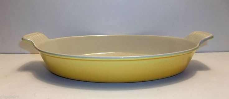Vintage Le Creuset AU GRATIN #24 YELLOW Enameled CAST IRON Oval ...