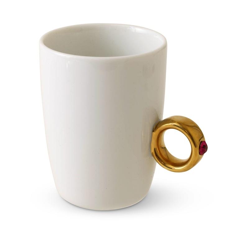 Floyd/Cup Ring ホワイト(ゴールド×ピンク) 3675yen 指輪をモチーフにした今までにないマグカップ