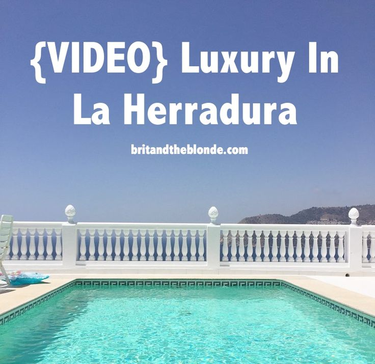 The most luxuries villa we've ever stayed in! Definitely recommend staying in La Herradura on your next trip to Spain. Watch the video over at britandtheblonde.com