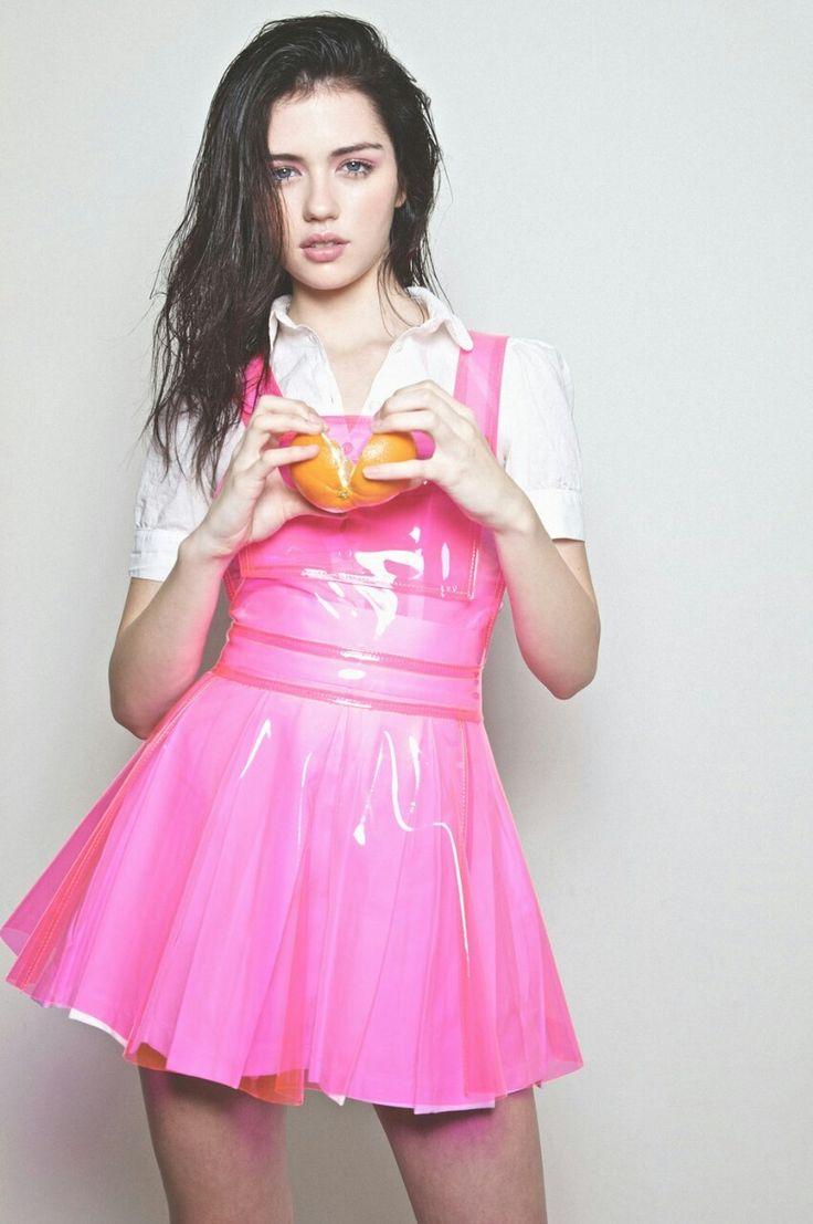 Pink plastic dress | clear | Plastic skirt, H&m raincoat и Latex dress