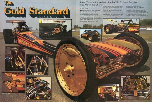 1980 Great Centerfold Pic of Ruffalo Ehlen Top Fuel Dragster The Gold Standard | eBay
