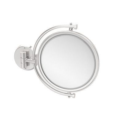Allied Brass Universal Extendable Mirror Magnification: 3x, Finish: Satin Chrome
