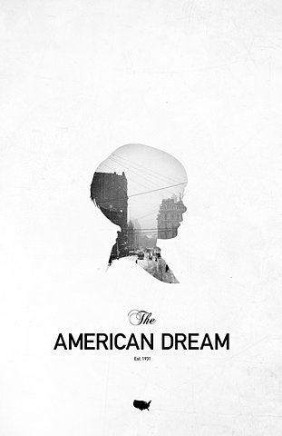 the american dream- make one of these for each city/dream accomplished.