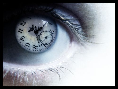 cool eye with a clock