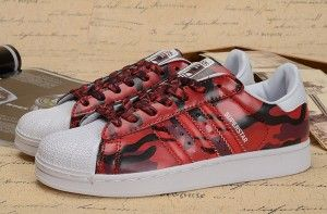 Hot sale 2015 New Adidas Originals SUPERSTAR 2.0 Lovers Schoenen AF5581 rood camouflage
