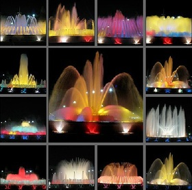 Barcelona..The Magic Fountain of Mointjuic.... I'd love to see this... music and lights...love it...