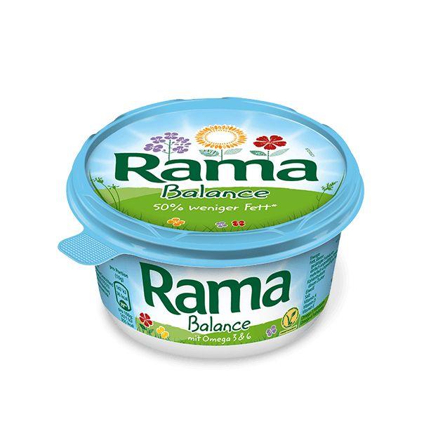 """Rama Balance ist die leichte Alternative für alle, die Wert auf eine gesundheitsbewusste Ernährung legen und dabei nicht auf den vollen Rama Geschmack verzichten möchten. Die Halbfett-Margarine ist mit leckerer Buttermilch verfeinert. Aufgrund ihres Fettgehalts von 39 % ist sie nicht zum Backen und Braten geeignet. Mit einer Kombination aus wertvollen Pflanzenölen liefert Rama Balance wichtige essentielle Fettsäuren. """"Essentiell"""" bedeutet, dass der Körper diese Fettsäuren braucht, aber…"""