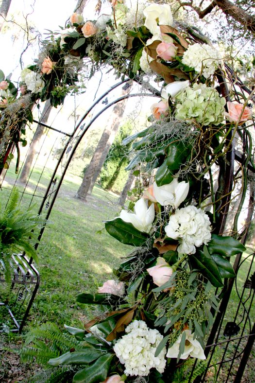 Southern wedding arch @Shanna Freedman Freedman Nicole Design @Kelley Oberg Smith Oberg Smith's Bloom Room