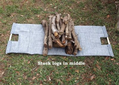 Scrappin with Sharon and Smokey : RSMobleyDesigns: Sewing Project! Firewood Log Carrier Tutorial